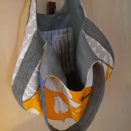 ふっくらトートバッグ オレンジ
