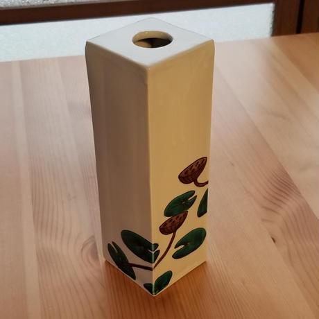 九谷焼 花器 はす
