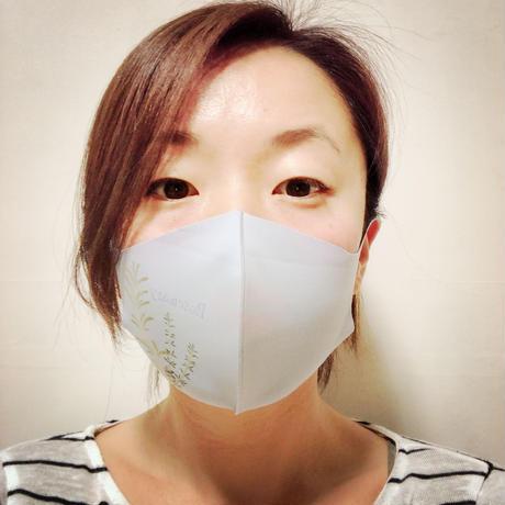 津久井智子の消しゴムはんこ:3月の教材「花とハーブのはんこマスク」