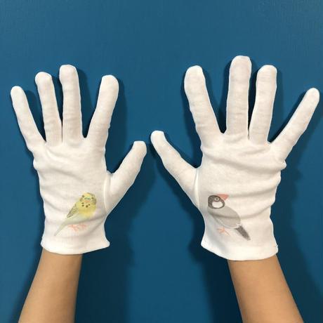 郵送版:津久井智子の消しゴムはんこ教室:5月の教材「コットン手袋」