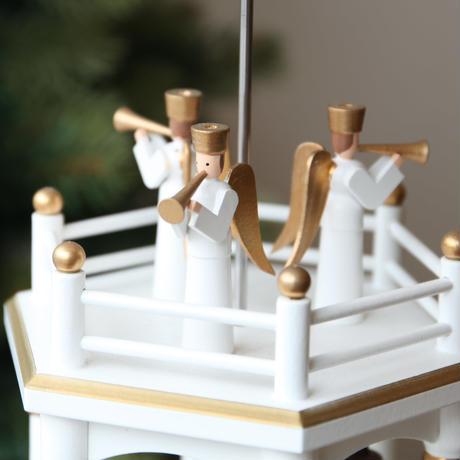 クリスマスピラミッド「キリスト生誕/白3段」