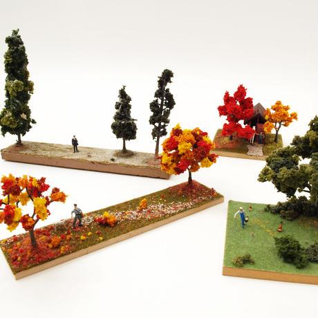 工作キット「ジオラマ/樹木紅葉・長方形」有馬玩具博物館オリジナル