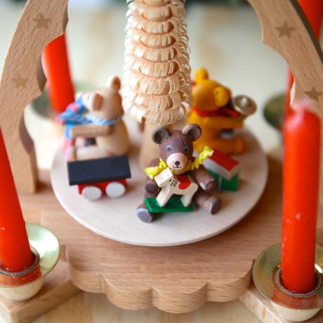 クリスマスピラミッド「くまとおもちゃ」
