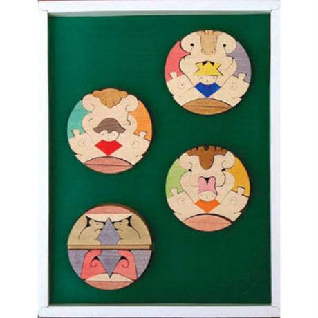 三童子三段飾り 普通垂幕・緑 KK218