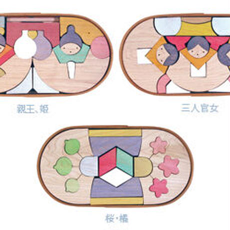 銀杏びな三段飾り 特製垂幕・桜 KH188