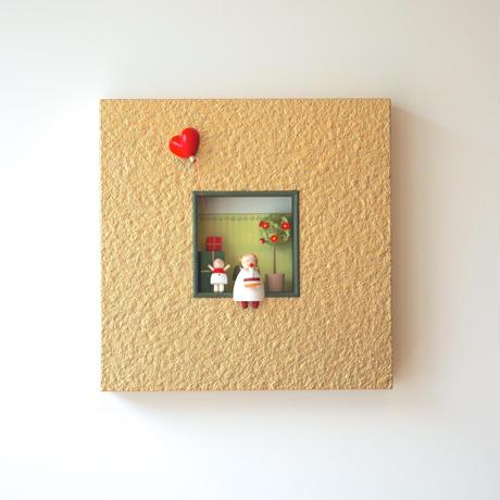 額 天使とプレゼント   /   ギュンター・ライヒェル工房