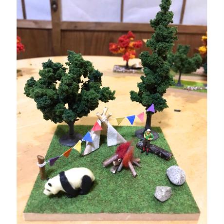 工作キット「ジオラマ/樹木緑・正方形」有馬玩具博物館オリジナル