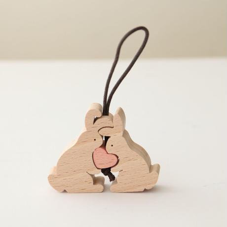 ハートのウサギさん KA381