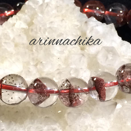 【赤富士】8.5ミリレッドファントムブレスレット