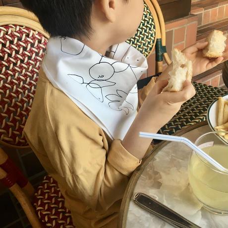 """""""MIKAMON"""" チーズの絵の布 ローズピンク"""