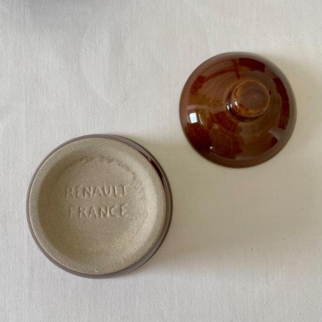 シェーブルと陶器製ココット(ブラウン)