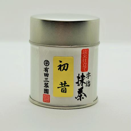 宇治抹茶 初昔【はつむかし】30g缶入
