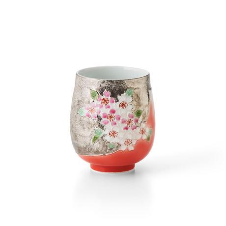 赤富士桜(プラチナ) 湯呑