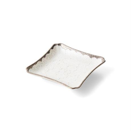 パール牡丹(プラチナ) 正角皿