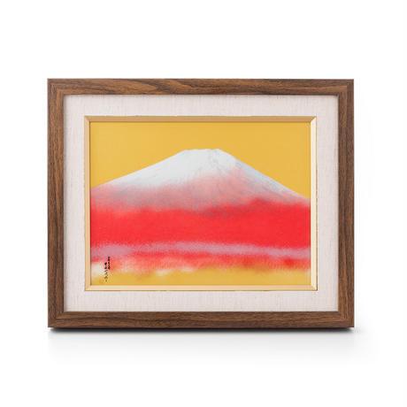 金彩 赤富士 ミニ陶額