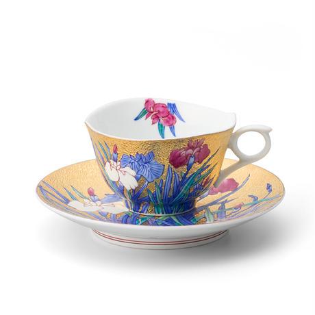 天童 金彩菖蒲碗皿