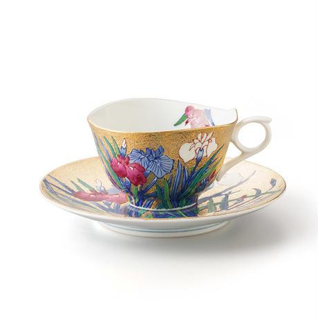 金彩  菖蒲 -iris- カップ&ソーサー