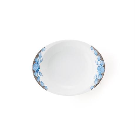 プラチナローゼ(ブルー)−極上のカレー皿【小】−