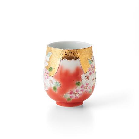 赤富士桜(ゴールド) 湯呑