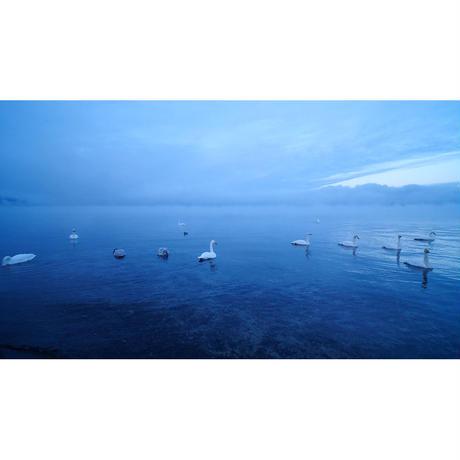 ドローン × 4Kカメラ動画・映像【Healing Blue Airヒーリングブルー・エア】道東-冬景色 釧路湿原・摩周湖・屈斜路湖〈動画約50分, approx50min.