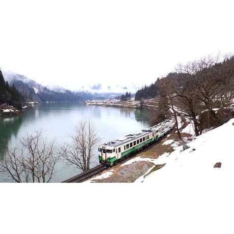 ドローン × 4Kカメラ動画・映像【Healing Blue Airヒーリングブルー・エア】只見線 絶景の秘境鉄道〈動画約41分, approx41min.〉感動のドローン × 4Kカメラ
