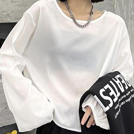 新作 layered sweat shirt