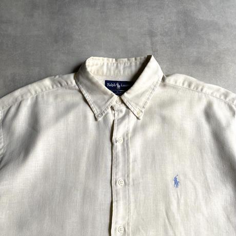 """90's Ralph Lauren """"BLAKE"""" cotton&linen shirts"""