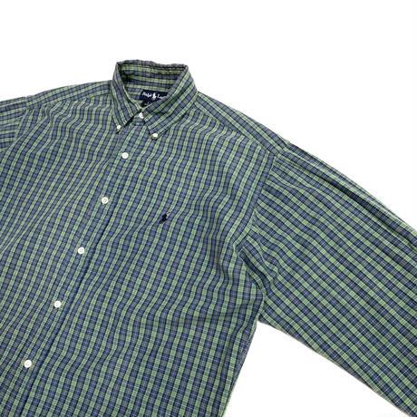 "90's Ralph Large ""BLAKE"" cotton check shirt"