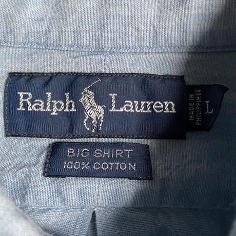 """90's Ralph Lauren """"BIG-SHIRT"""" chambray shirt"""