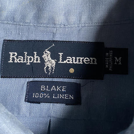 """90's Ralph Lauren """"BLAKE"""" linen shirts"""