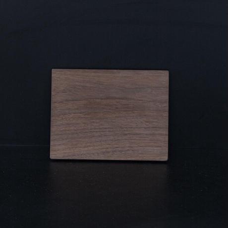 ウォールナットの薄型プレート/Sサイズ