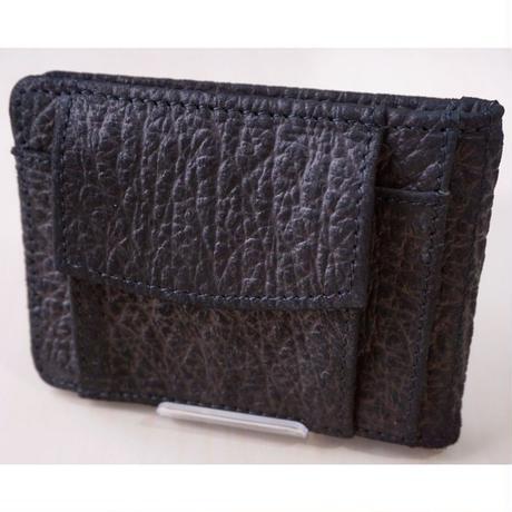 マネークリップ 二つ折り財布 牛革 レザー 型押し