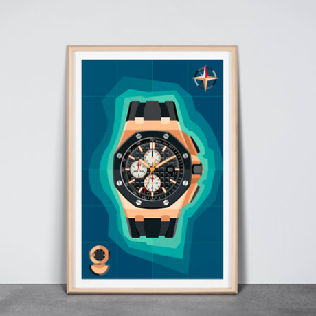 "EERUNE ""Off Shore""  Wall Watch"