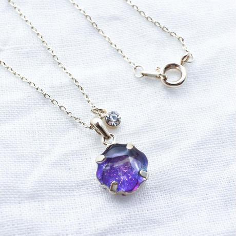 いつかのどこかのネックレス中粒 #紫陽花3 / CONN