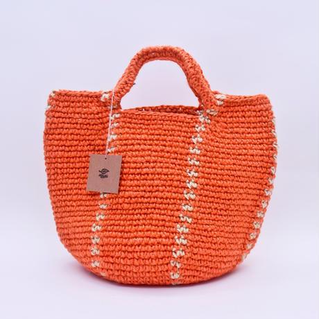 たて柄 Bag  オレンジ /  Miroru
