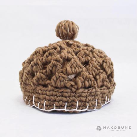 もこもこ毛糸のお帽子 柄 majibon