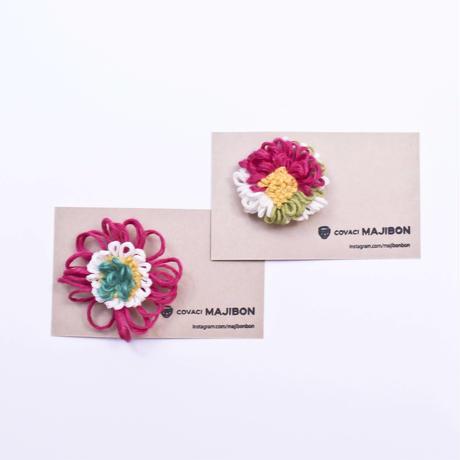 フックドラグのお花ブローチ  / majibon