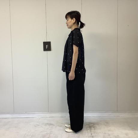 【 artepovera-2021summer18 】ピマコットンジャガード NEWバルーンシャツ