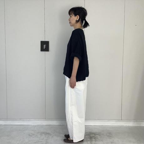 【 artepovera-2021summer36  】リネン染め クルーT