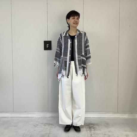 【 artepovera-2021summer26 】REアフガンストール オープンシャツ