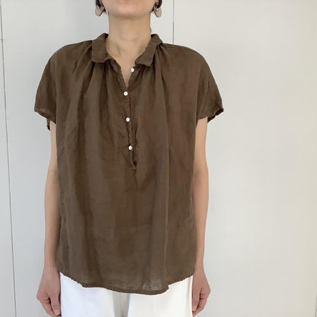 【 artepovera-2021summer34  】リネン染め NEWバルーンシャツ