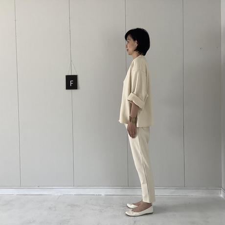【 artepovera-2021spring10  】30/裏毛 Vネック8分袖トレーナー