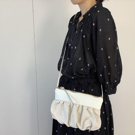 【 artepovera-2021summer28 】フランスリネン×革MIX サコッシュ