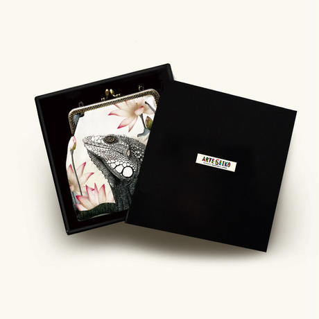 No.72 EP★2WAY Epocheエポシェ【With Igu White】ウイズ イグ(ホワイト) 本体内ポケット+Pポーチ付 オリジナルプリント&ハンドメイド 少数販売品