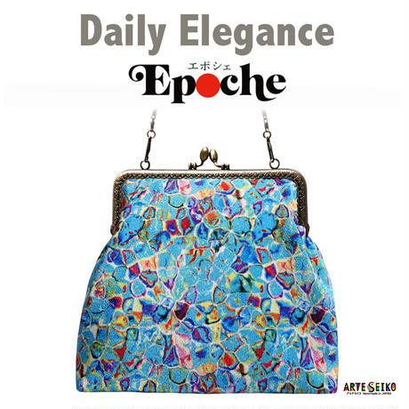 No.30 EP★2WAY Epocheエポシェ【Blue Cells】本体内ポケット+ Pポーチ付 オリジナルプリント &ハンドメイド少数販売品