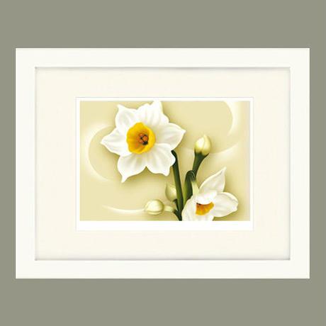 No.125★【 Narcissus 】額装ジークレー版画(デジタルリトグラフ)