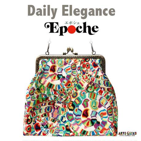 No.68 EP★2WAY Epocheエポシェ【Spira】本体内ポケット+ Pポーチ付 オリジナルプリント &ハンドメイド少数販売品