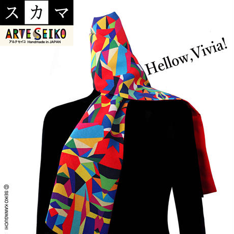 No.13 SCA★SCAMA【 Hellow, Vivia! 】オリジナルプリント &ハンドメイド 少数販売品