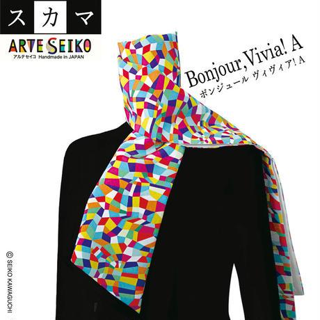 No.27 SCA★SCAMA 【Bonjour, Vivia! 】オリジナルプリント &ハンドメイド少数販売品