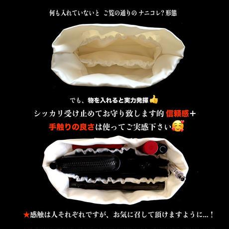 No.23 EP★2WAY Epocheエポシェ【White Palm】本体内ポケット+Pポーチ付オリジナルプリント&ハンドメイド 少数販売品